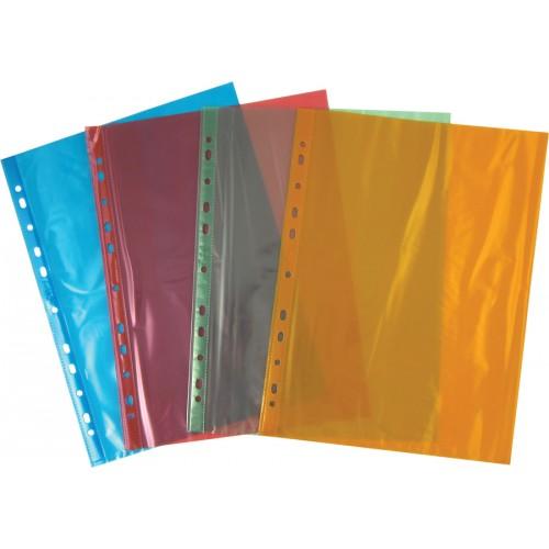 Файл для документов А4+ цветной, 40мкм, 100шт. Axent