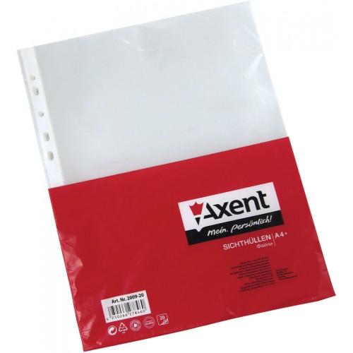 Файл для документов А4+, 90мкм, 20шт. Axent