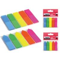 Стикеры-закладки неоновые 12*50мм пластик, прямоугольные