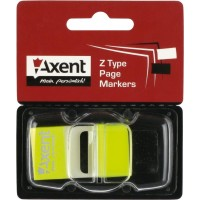 Стикеры-закладки неоновые 25*45мм пластик, в диспенсере