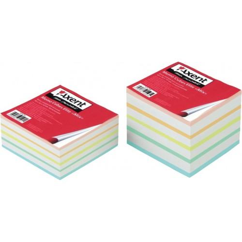 Бумага для заметок Axent Elite Mix, 90х90х40 мм., не скл.