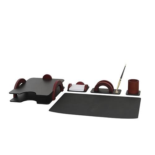 Набор настольный Bestar (5257FDU), 5 предметов, красное дерево