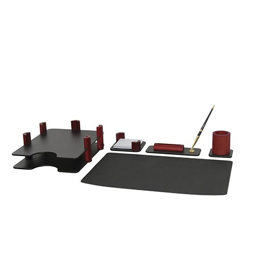 Набор настольный Bestar (5269FDU), 5 предметов, красное дерево