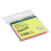 Бумага для заметок Buromax, 76х76 мм., 100 л., неон