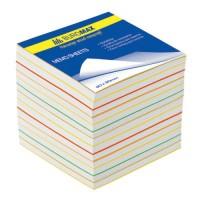 """Бумага для заметок Buromax """"Радуга"""", 90х90 мм., 1100 л., не скл., ассорти"""