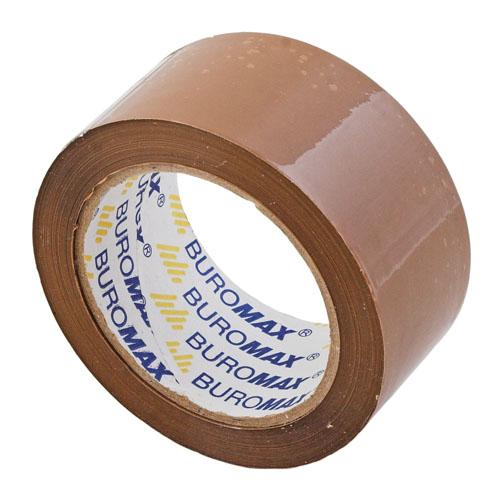 Клейкая лента упаковочная Buromax, 48мм x 45м, коричневый