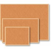 Доска пробковая 60*90см, деревянная рамка