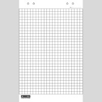Блок бумаги для флипчарта 64*90см, 10 листов, клетка