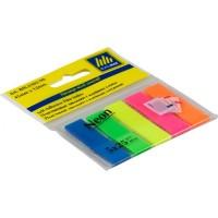 Стикеры-закладки неоновые 12*45мм пластик, прямоугольные