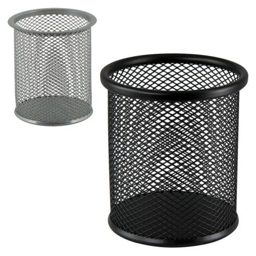 Подставка-стаканчик для ручек металлический, круглый