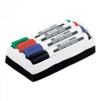Набор маркеров для доски+губка Buromax