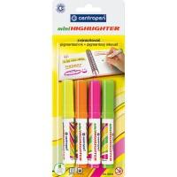 Набор маркеров текстовых Centropen Fax 1-4,6мм (4шт.)