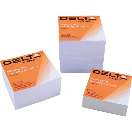 Бумага для заметок Delta, 80х80х20 мм., скл., белая