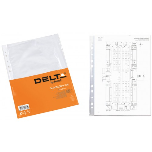Файл для документов А4+ Бюджет, 100шт. Delta by Axent