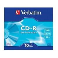 Диск CD-R,700Mb,52х,80min, Color, Slim