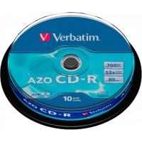 Диск CD-R,700Mb,52х,80min,Cake(10),Extra