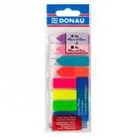 Стикеры-закладки неоновые 12*45мм пластик, прямоугольные+стрелки