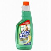 Средство для мытья окон Мистер Мускул в ассортименте, запаска