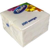 Салфетки столовые белые, 100 шт./уп.