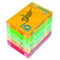 Цветная бумага IQ A4 80г/м2, 500л неоновые цвета
