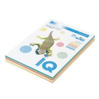 Набор цветной бумаги IQ A4 80г/м2, 5*50л пастель RB01