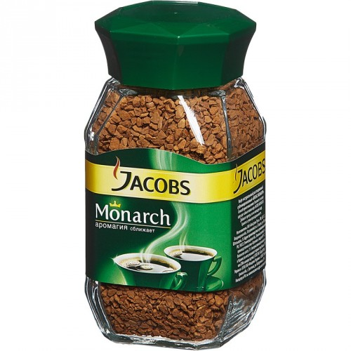 Кофе растворимый Jacobs Monarch, 190г, банка
