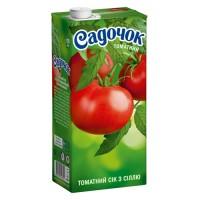 """Сок Садочок """"Томатный с солью"""", 1л."""