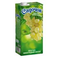 """Нектар Садочок, """"Яблочно-виноградный"""" из белых сортов, 1л."""