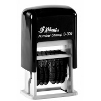 Мини-нумератор пластиковый 6-разрядный, 3мм.